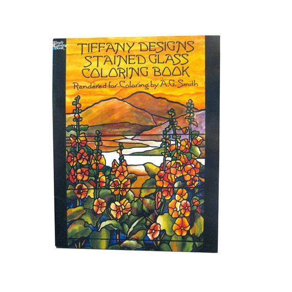 Tiffany Designs Stained Glass Coloring Book - Adult Coloring Books ...