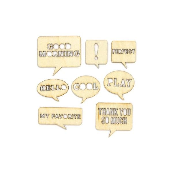 Speech Bubbles ~ Wood Veneer