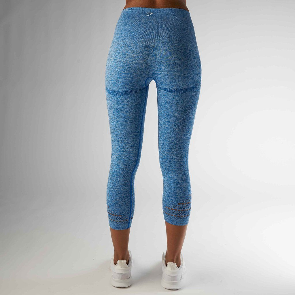 4530546ab60785 Gymshark High Waisted Seamless Cropped Legging - Blueberry Marl | m ...