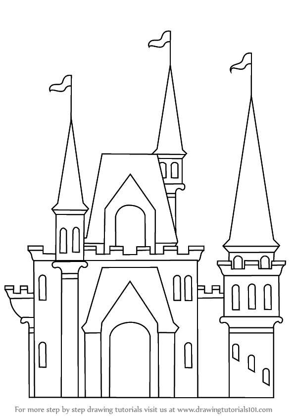 Kids like to draw various shapes for fun. Castles are very