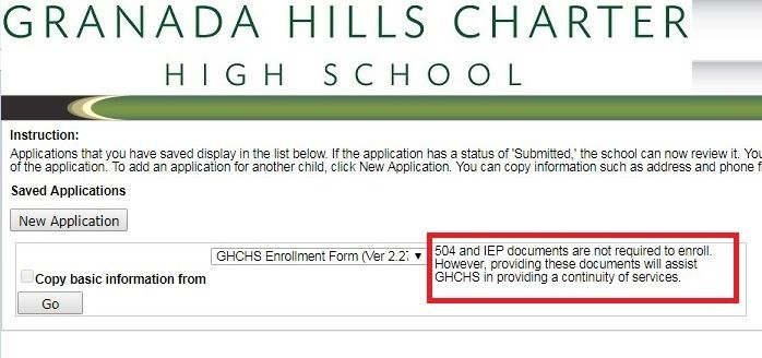 Granada Hills Charter High School Continues To Ask For