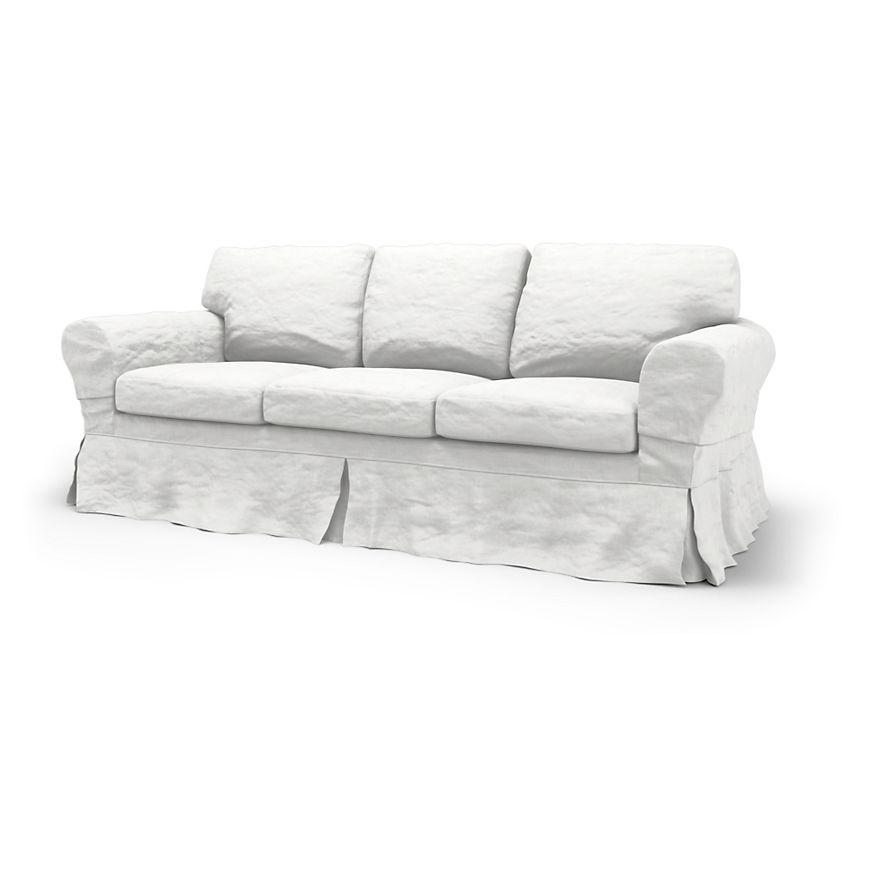 Rp Sofa Covers 3 Seater Loose Fit Country Using The Fabric Rosendal Pure Washed Linen Absolute White