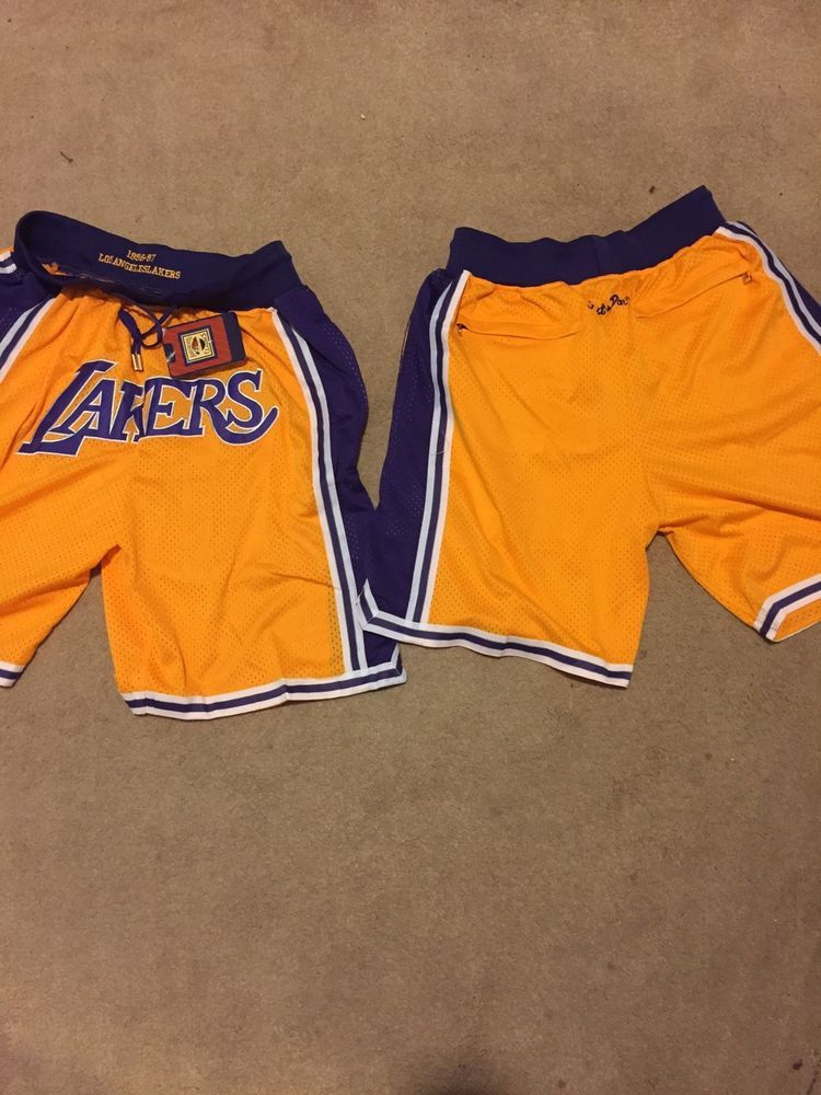 874da423ec8 ... Mitchell and Ness quality basketball shorts. Just don lakers shorts  Lebron Mj kobe  fashion  clothing  shoes  accessories  mensclothing  shorts  (ebay ...