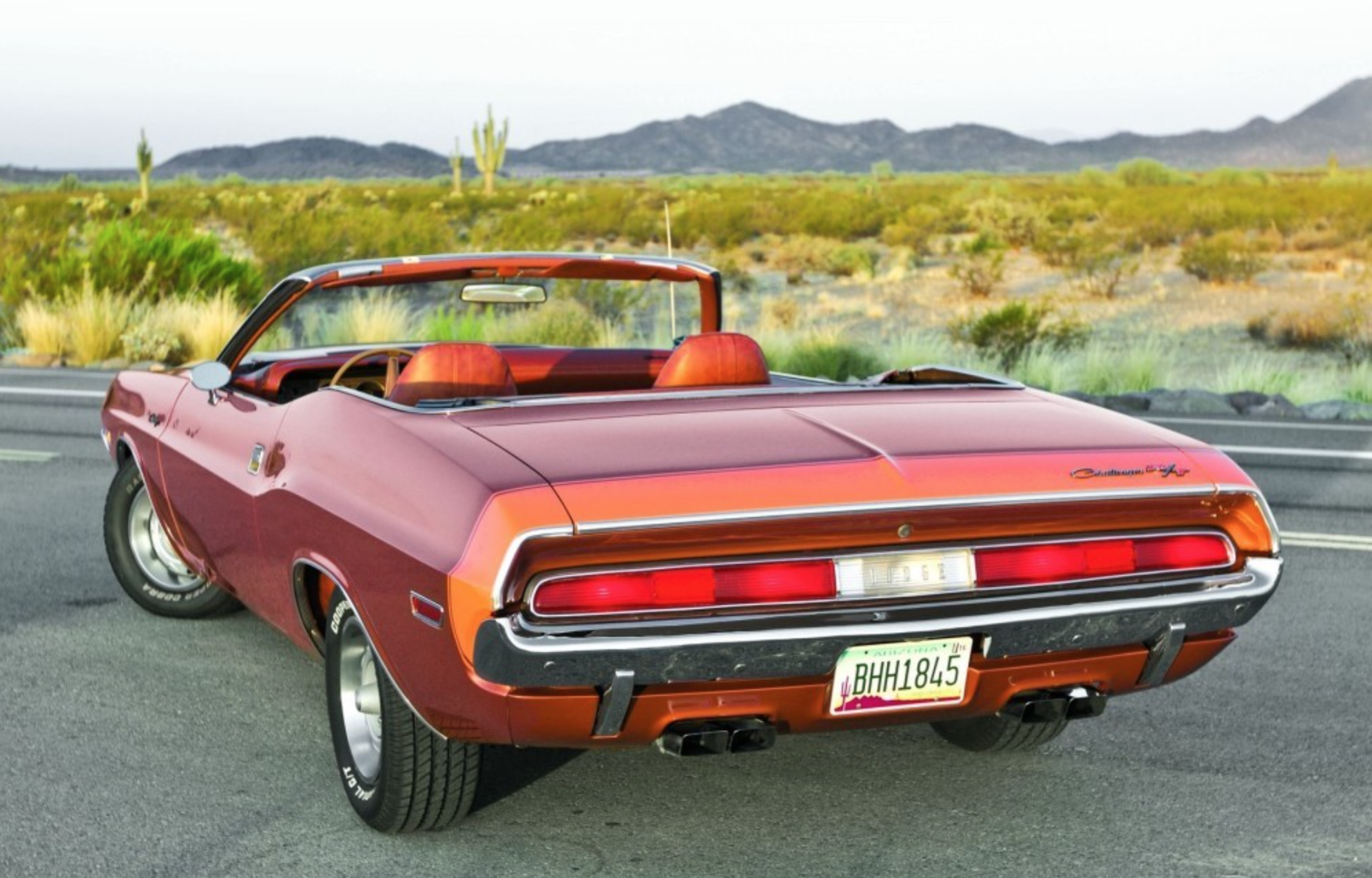 1970 dodge challenger r t convertible 383 cubic inch motor and a 4 speed hurst pistol grip manual shift rare color combo [ 1992 x 1274 Pixel ]