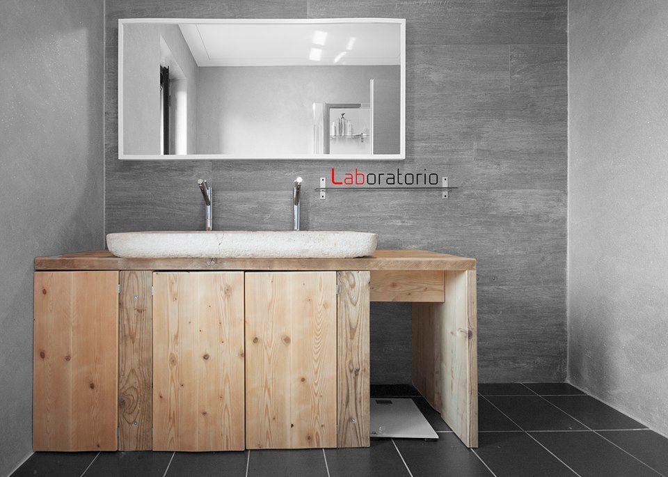 Mobili Bagno Con Legno Di Recupero : Mobile bagno realizzato a misura con legno di recupero my work