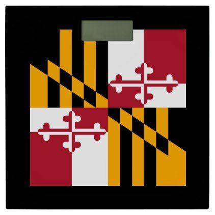 Dynamic Maryland State Flag Graphic On A Bathroom Scale Zazzle Com Bathroom Accessories Flag Visit Maryland U S States