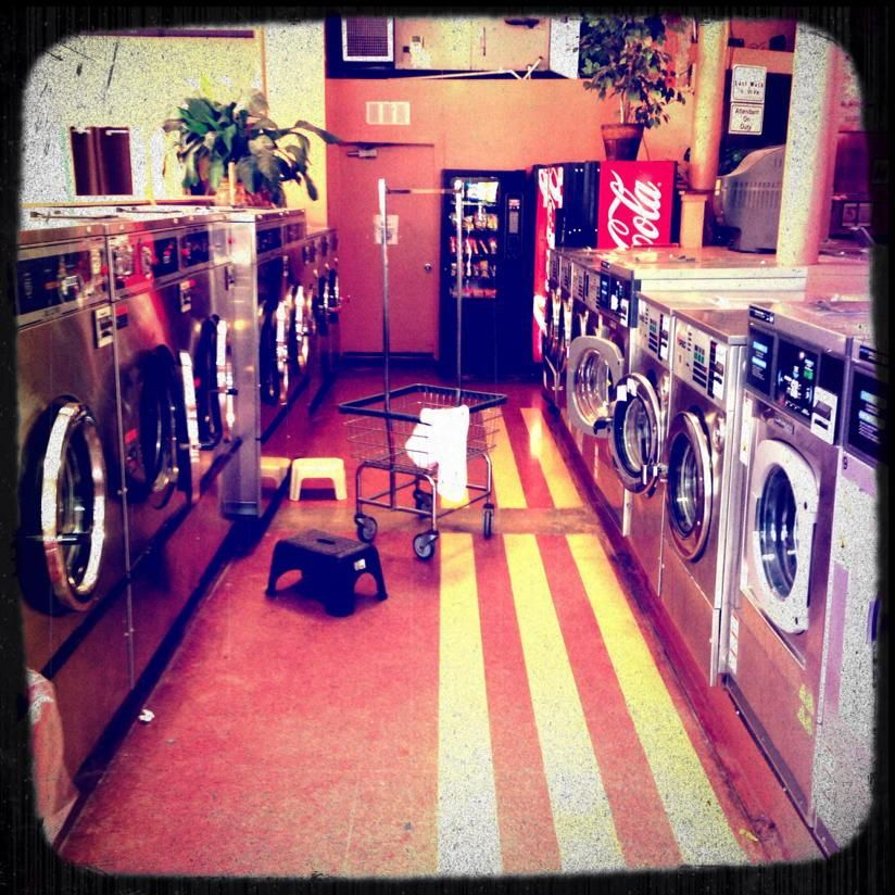 Laundry Day. An actor's life on the road is a terribly glamorous thing.