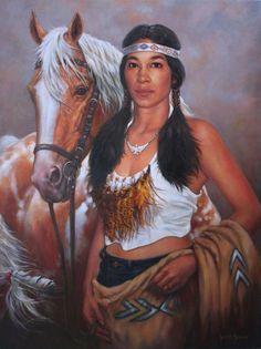 Pintura y Fotografa Artstica  Pinturas Indias Americanas