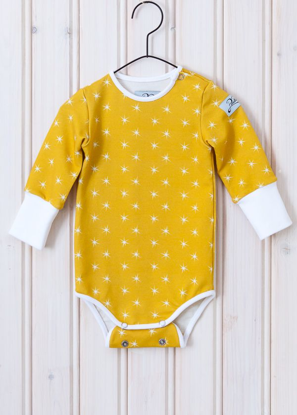 Vauvan keltainen tähtibody | Poutapukimo