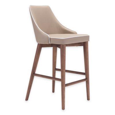 Buy Zuo® Moor Bar Chair in Dark Grey (Set of 2) from Bed Bath & Beyond