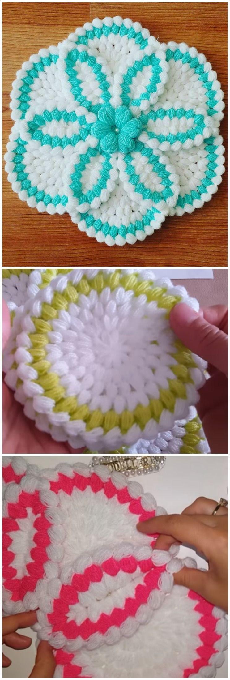 Crochet Beautiful Table Decorations | Tejido, Ganchillo y Carpeta