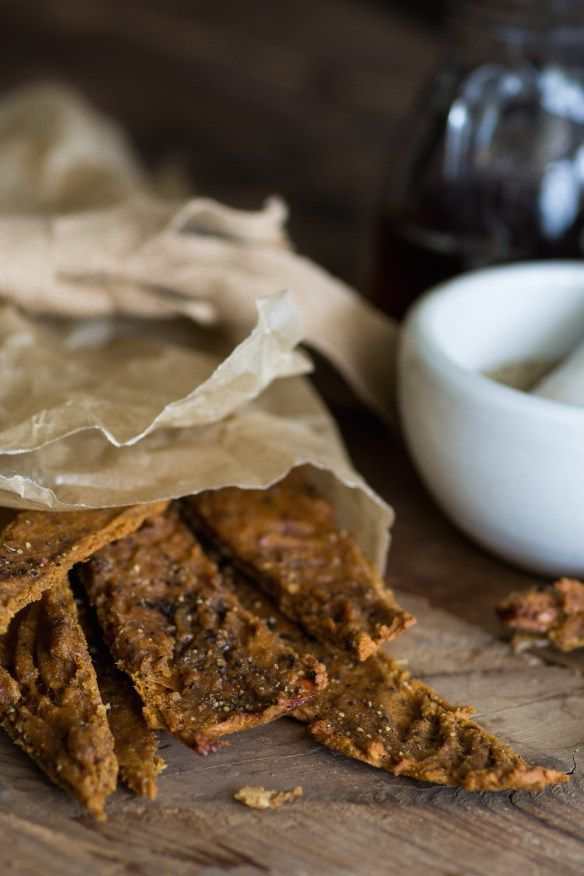 Oil Free Maple Black Pepper Tofu Jerky