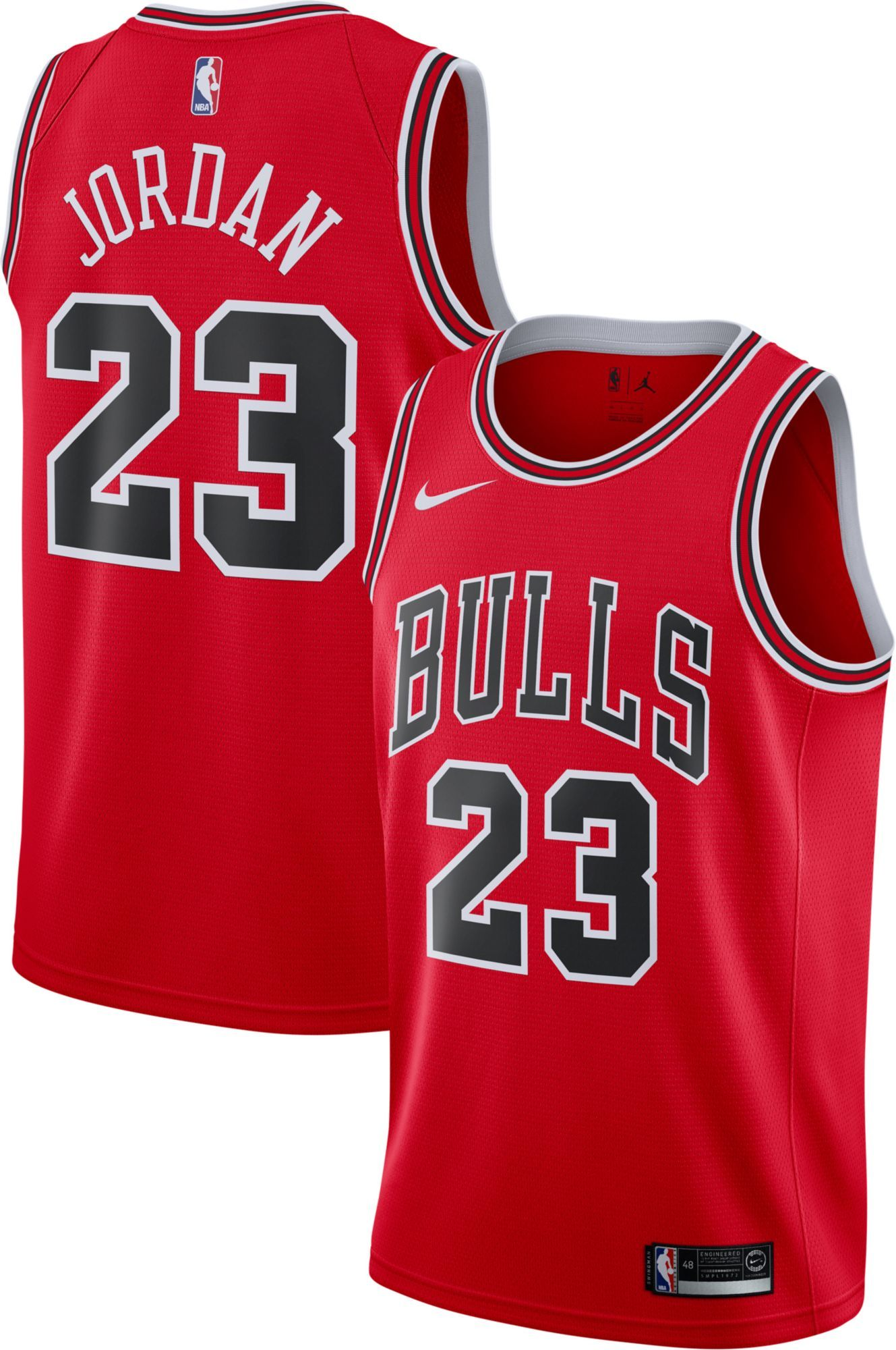 the best attitude 1f716 e1c13 Nike Men's Chicago Bulls Michael Jordan #23 Red Dri-FIT ...