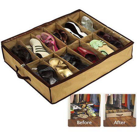 Sto Away Under Bed Shoe Storage Solution Walmart Com Under Bed Shoe Storage Shoe Storage Solutions Shoe Storage Organiser