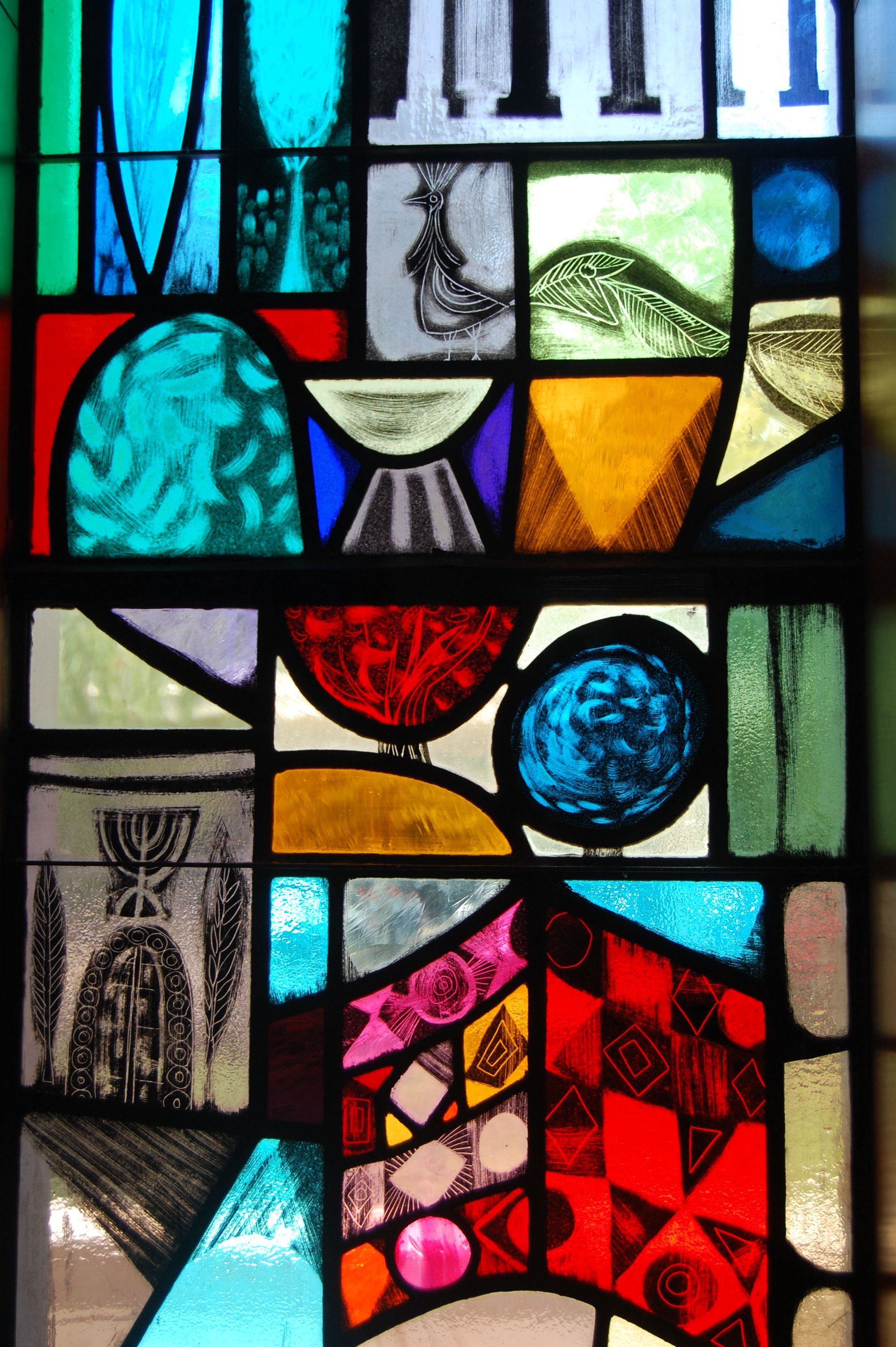 Stained Glass Window at Ahavath Achim Synagogue - Atlanta
