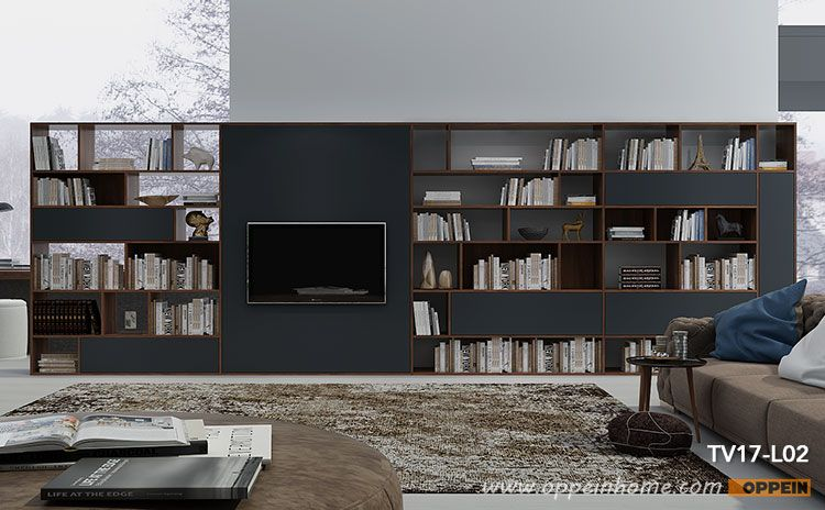Modern Large Tv Bookshelf Wall Unit Tv17 L02 Wall Bookshelves