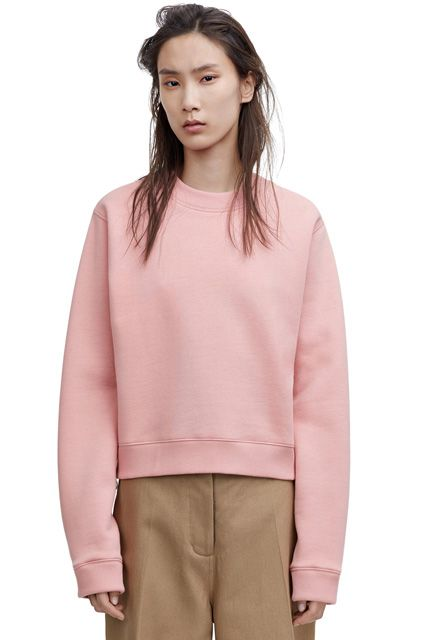 We're really into this pale-pink and dark-khaki combo.