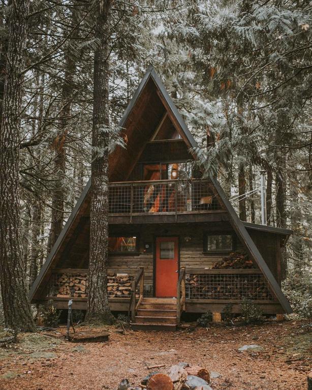 A Frame Mount Rainier 1080x1349 Cabinporn A Frame House A