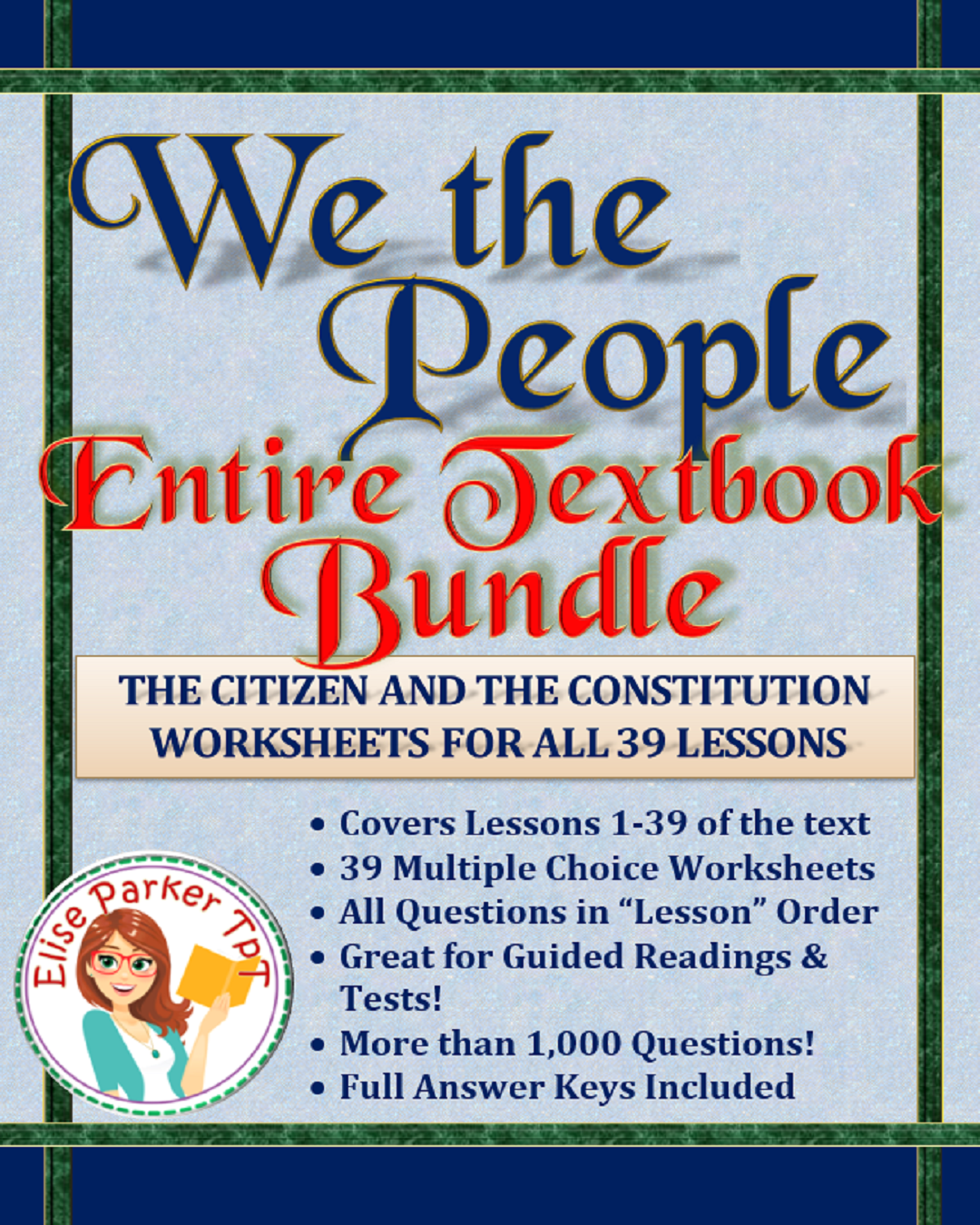 We The People Worksheets Entire Textbook Bundle Lessons 1