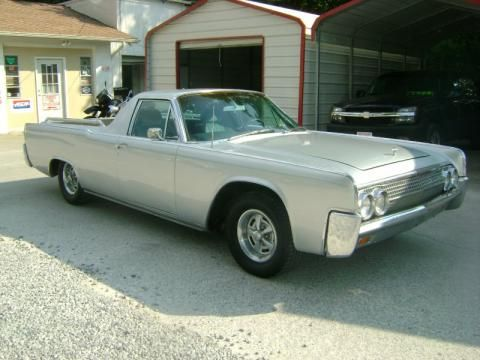 Silver Lincoln Continental Custom Funeral Flower Car Click To