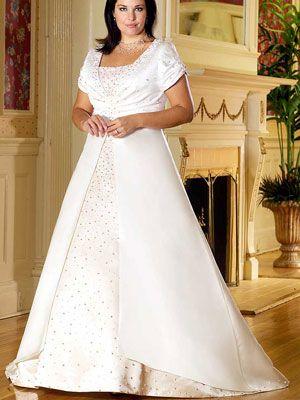 Modest Plus Size Wedding Dress