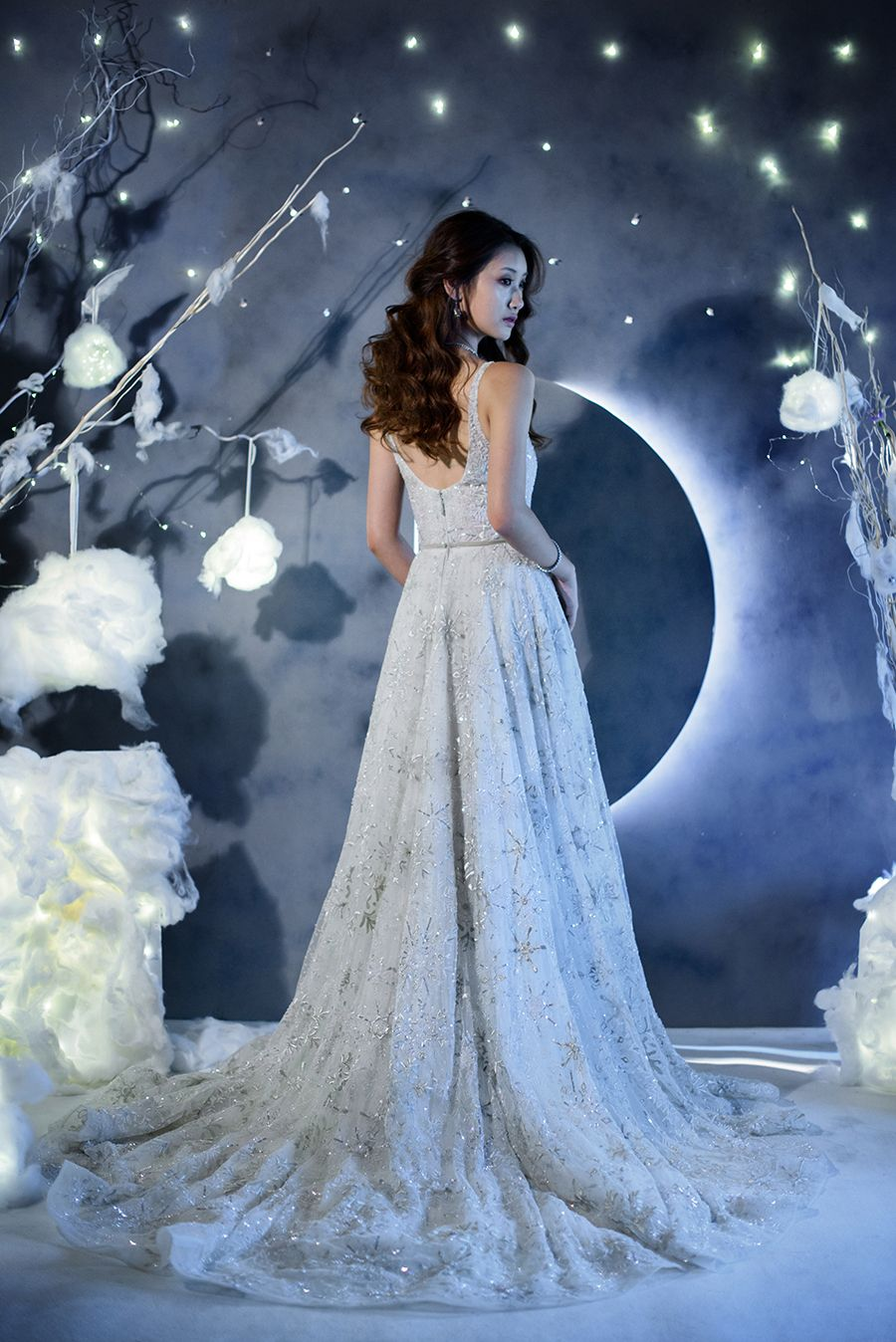 Winters Night Wedding Inspiration With 3 Paolo Sebastian Gowns In