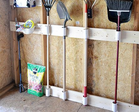 Some DIY ideas for organizing a yard shed. Some DIY ideas for organizing a yard shed    Garage Organization