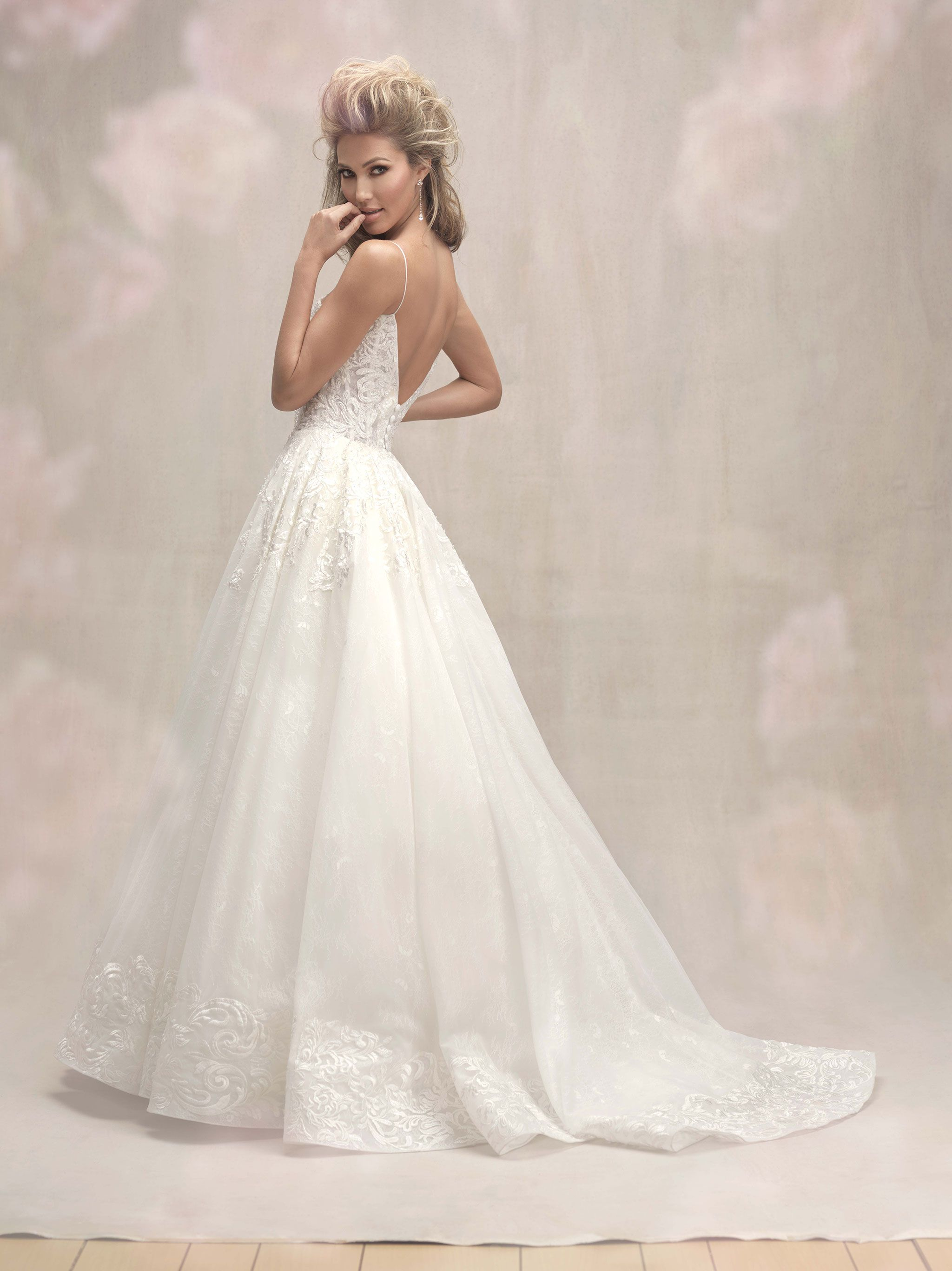 Allure Bridal Couture Style C454 Featuring Delicate Straps And A Simple Silhouette This Gown Is Perfection