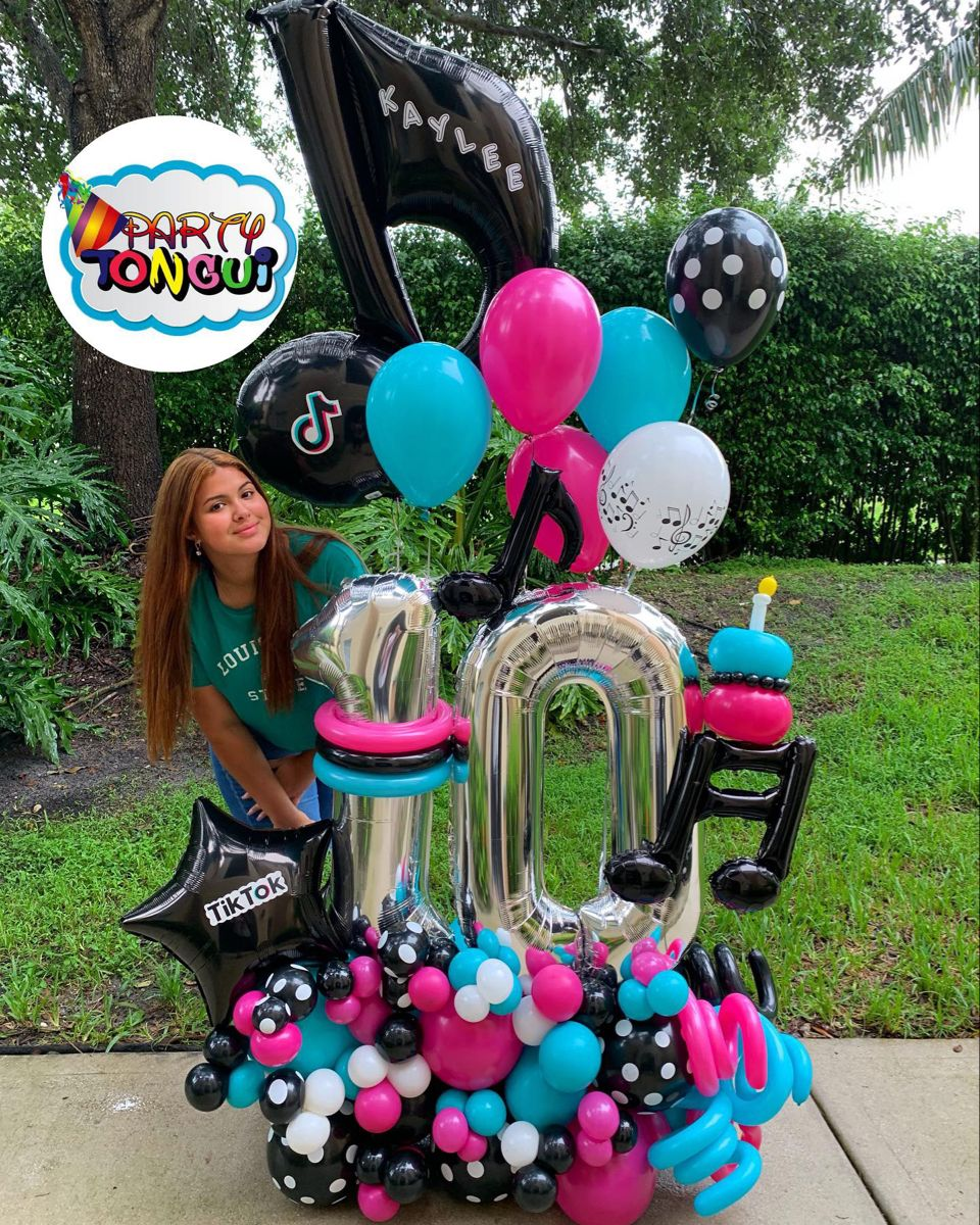 Tik Tok Balloon Bouquet Balloon Decorations Party Birthday Balloons Party Balloons