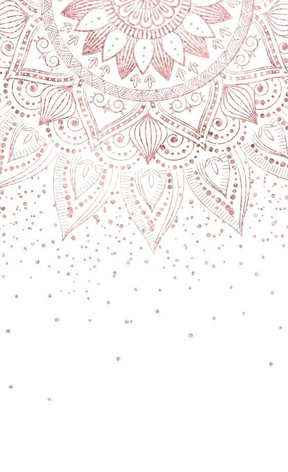 Iphone Wallpapersrose Gold Iphone Wallpaperfree Iphone Wallpaperswallpapers Backgrounds Rose Gold Wallpaper Gold Wallpaper Background Mandala Wallpaper
