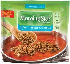 Morningstar Farms 174 Meal Starters 174 Grillers 174 Recipe Crumbles Recipe Ready Use Instead Of