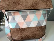 FoldOver Tasche, pastell