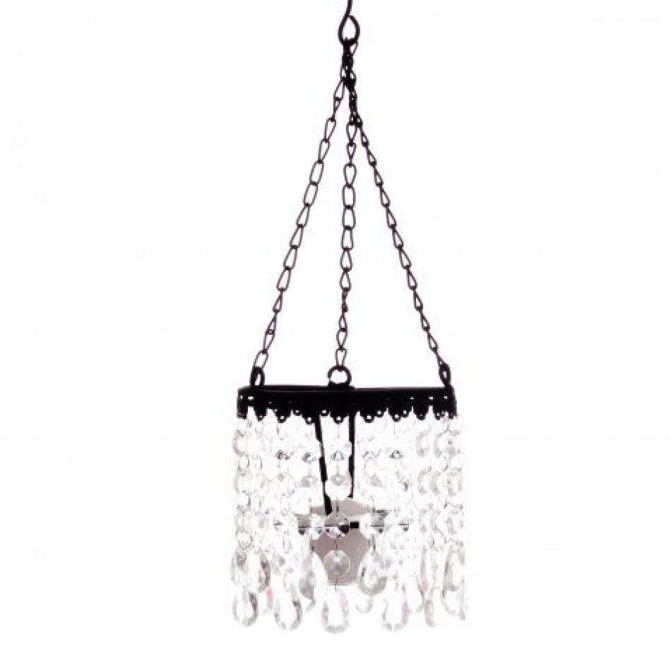 5 Crystal Votive Chandelier - Square [SH8644 Square Crystal ...