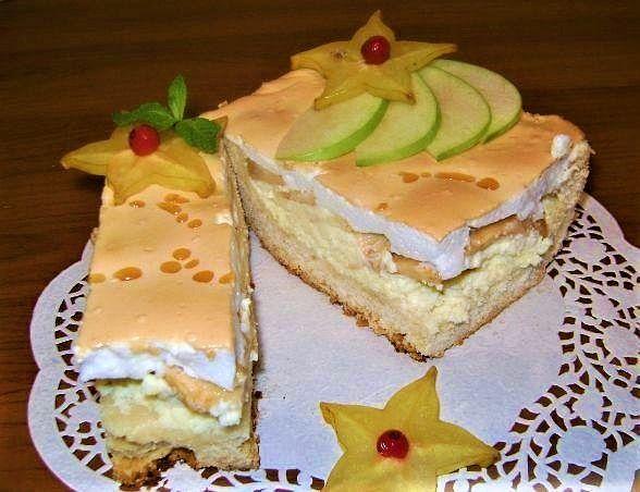 Королевский пирог с яблоками и творогом » Женский Мир