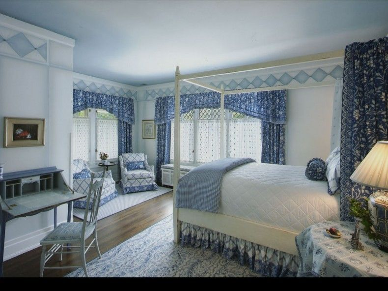 Beautiful Bedroom Decorated In Blue: Blue Bedroom Color