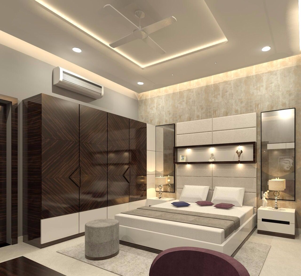 Bedroom | Luxury bedroom design, Bedroom false ceiling design