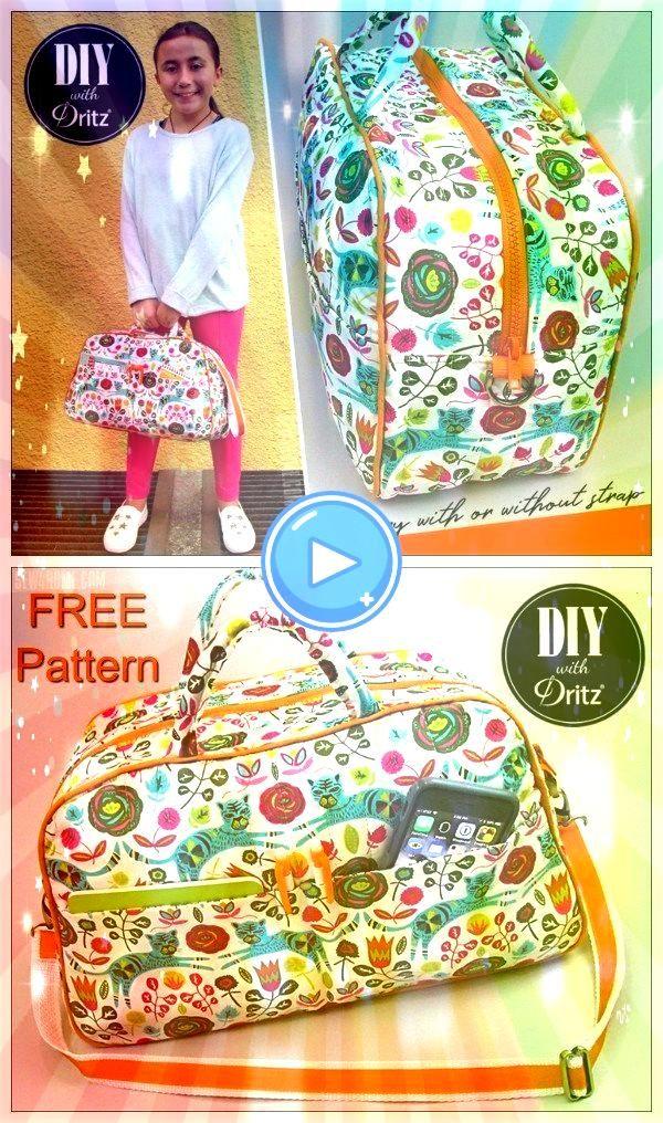 Duffle Bag oder Bowling Style Bag Schnittmuster Kleine Geldbörse oder Kinder Kostenlose Duffle Bag oder Bowling Style Bag Schnittmuster Kleine Geldbörse oder Ki...