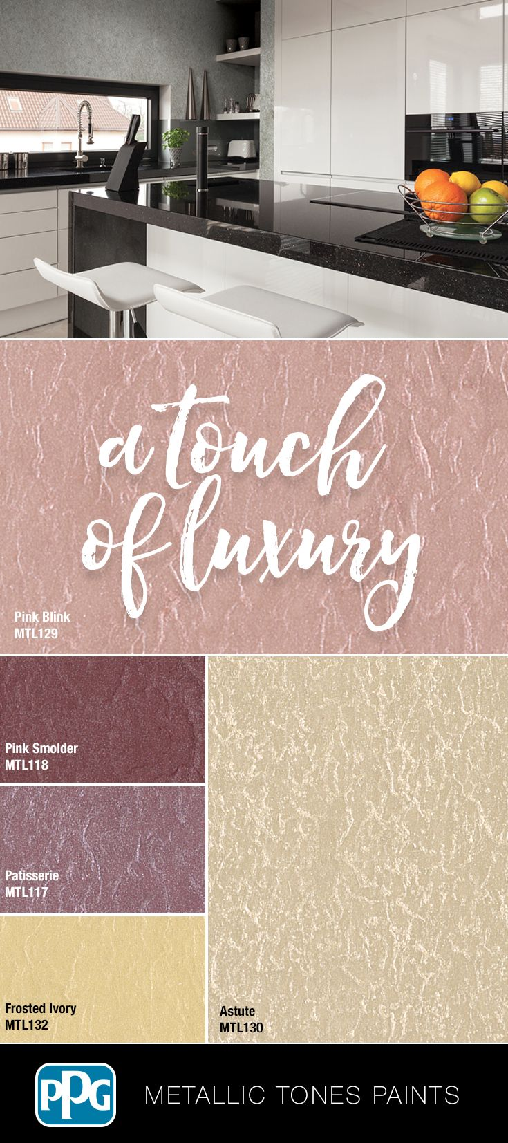 Bring a touch of luxury into your home with PPG Metallic Tones ...
