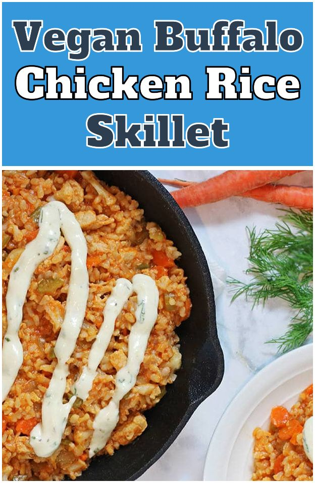 Vegan Buffalo Chicken Rice Skillet Vegan Buffalo Chicken