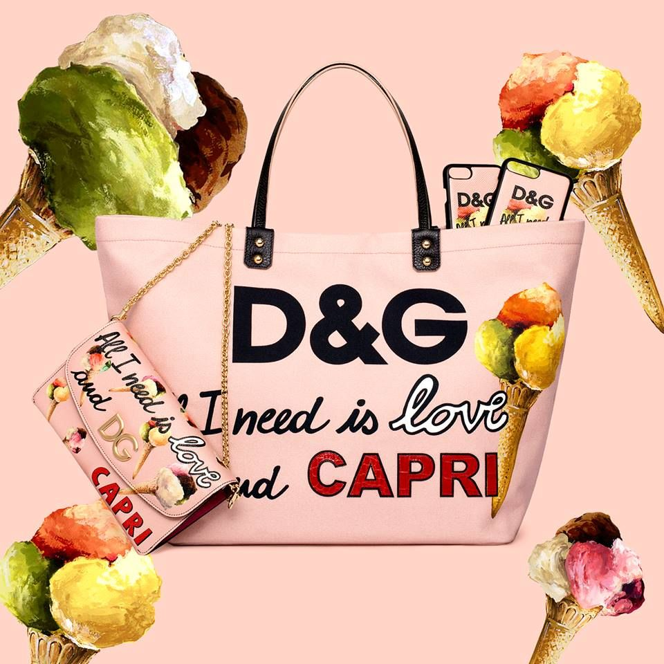 Wear your favourite ice cream flavours with the Dolce & Gabbana Capri resort collection!   Shop Dolce & Gabbana bags here!