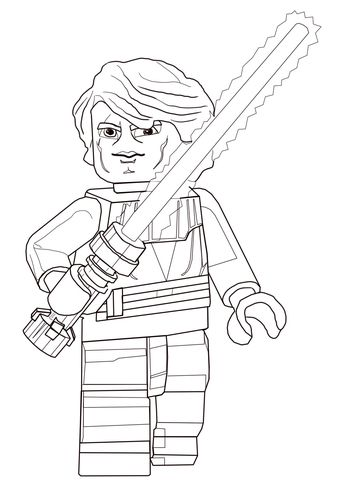 Lego Star Wars Anakin Skywalker Coloring Page Star Wars Colors Star Wars Coloring Book Star Wars Coloring Sheet