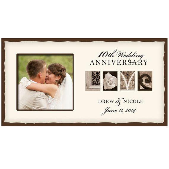Personalized Wedding Love Photo Frame 10thwedding Anniversary