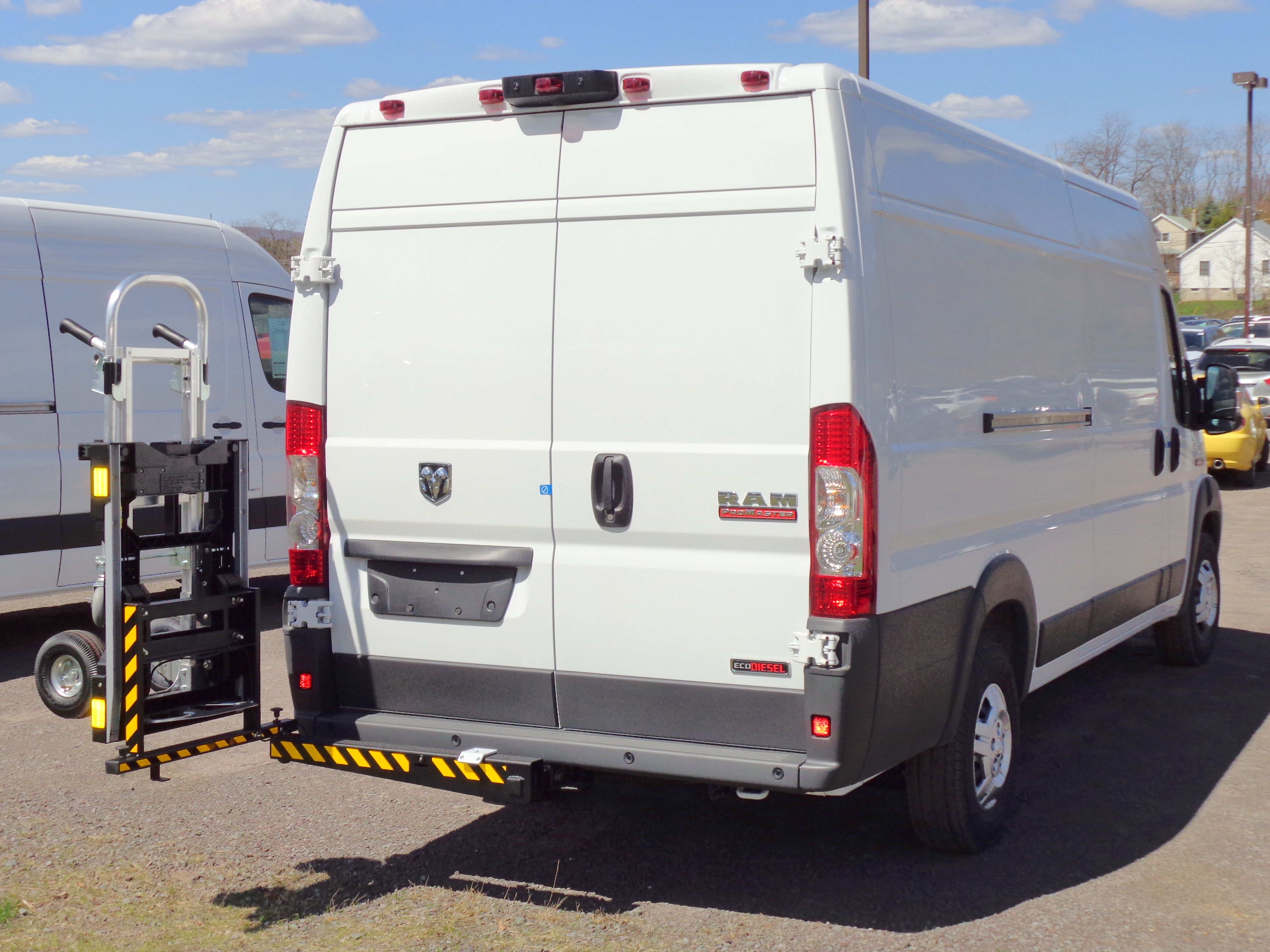 Dodge Promaster Commercial Cargo Van Equipped With Hts Systems Hts 20sdp Ultra Rack Hand Cart Carrier Rack Hts Systems Comme Truck Transport Hand Trucks Van