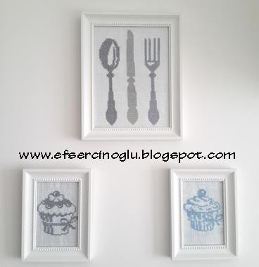 Cross stitch for kitchen.. www.efsercinoglu.blogspot.com