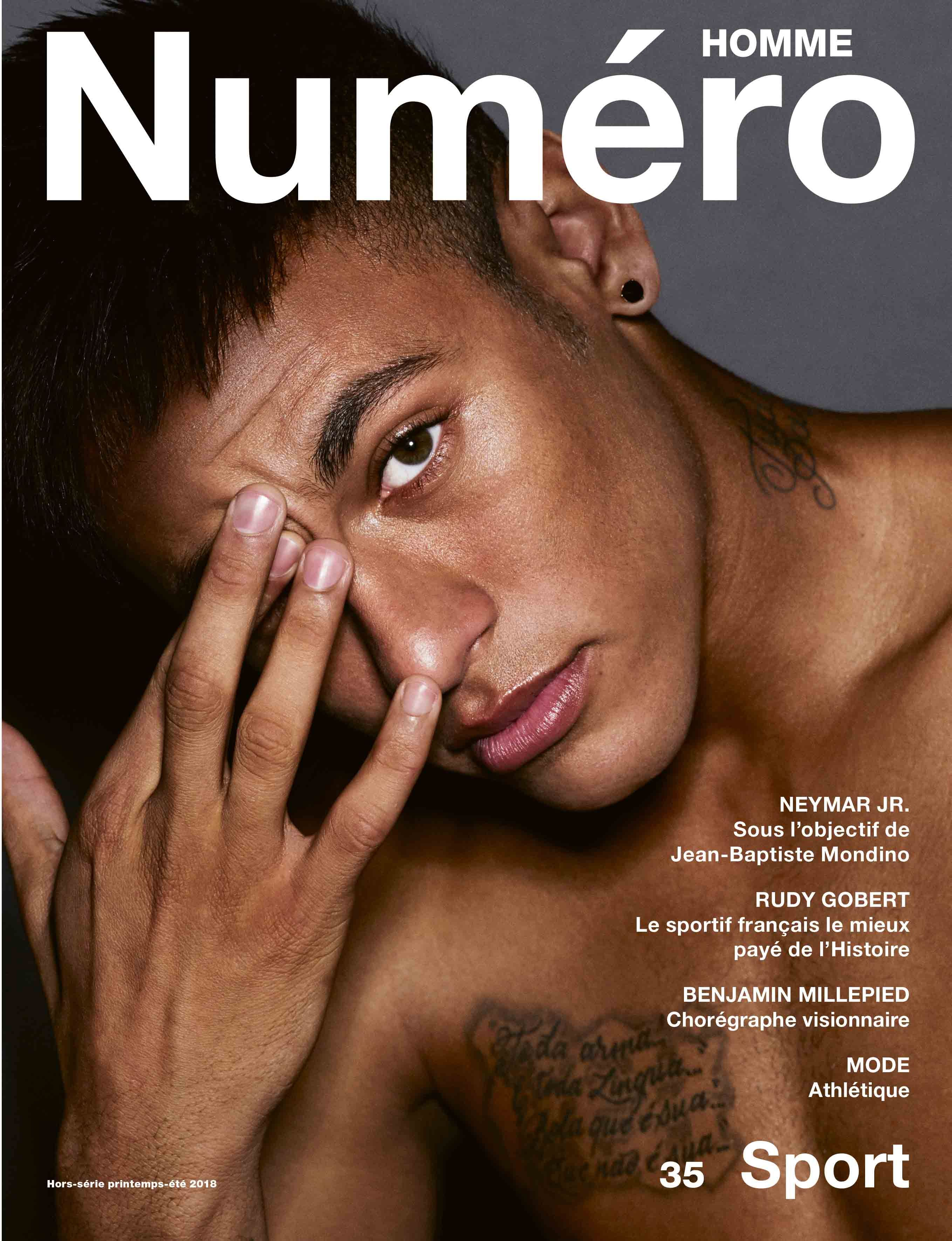 Cover Story Neymar Jr By Jean Baptiste Mondino For The Issue Of Numero Homme N35 Nuits