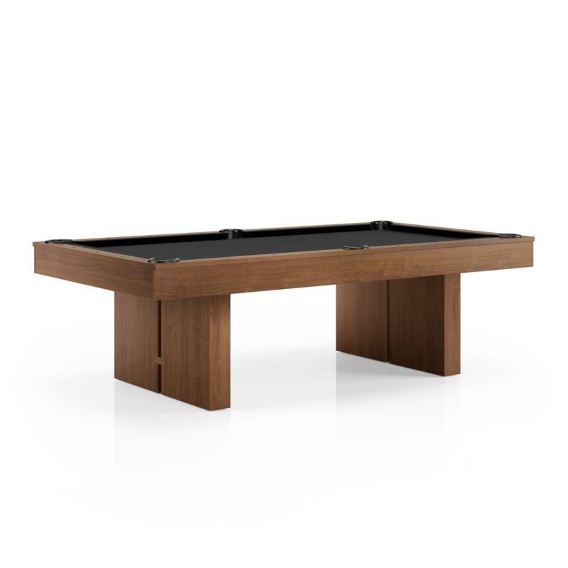 Walnut Pool Table - Black Felt in 2019   Pool table, Table ...
