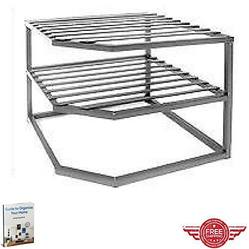 Dinner Plates Rack Cabinet Storage Open Shelves Dishware Mugs Rack Metal  Corner Frame Space Saving Fit