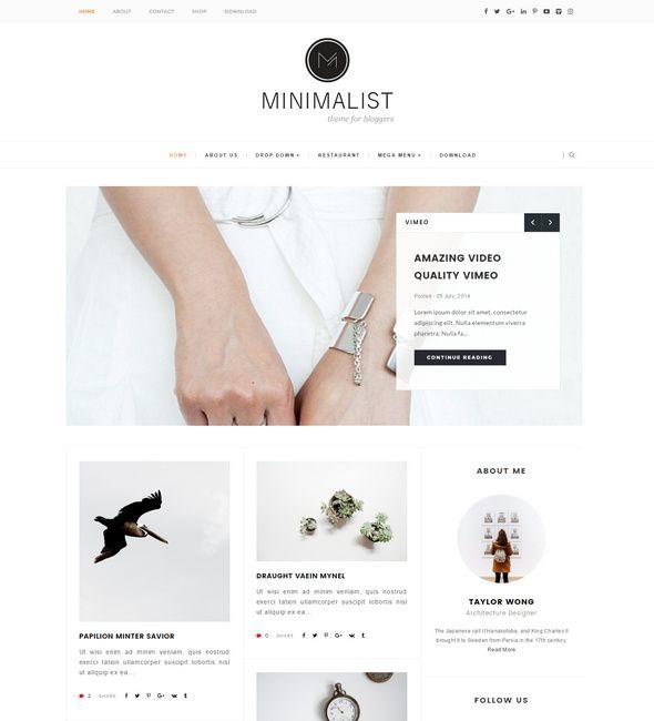 Minimalist responsive blogger template w e b d e s i g n minimalist responsive blogger template pronofoot35fo Gallery