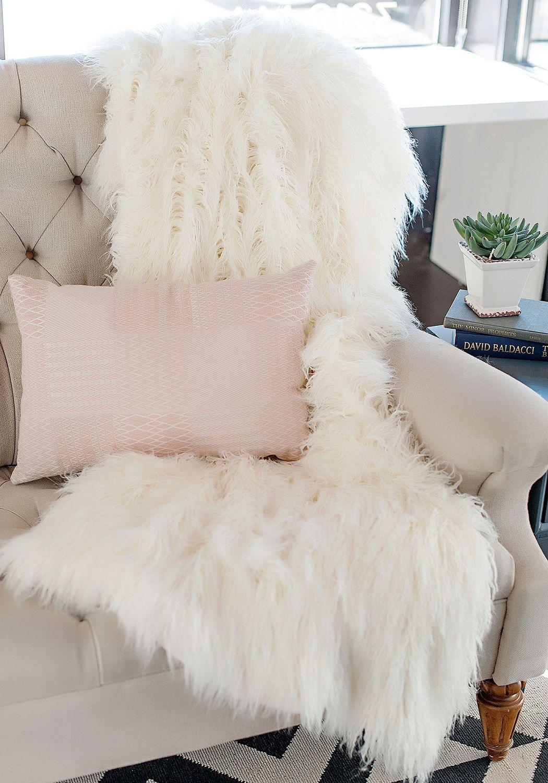 Designer Fur Fashion Fur Fur Throw Fur Blanket Throw Blanket Faux ... for Sheep Fur Blanket  61obs