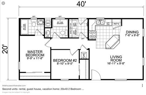 Little House On The Trailer Affordable Small Modular Homes 20 X 40 Floor Plan 42 800 Fully Built Square House Plans 20x40 House Plans Small Floor Plans